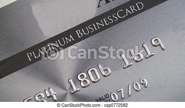 Platinum credit card - csp0772582