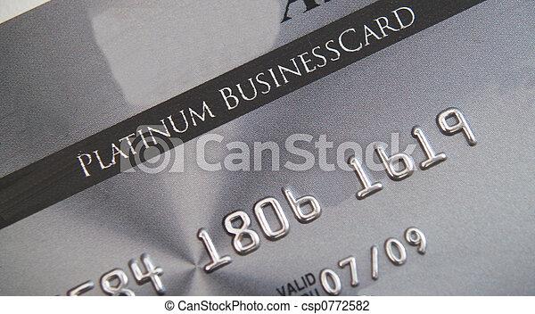 Platinum credit card - csp0772582