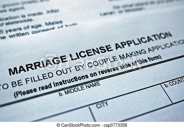 Marriage form - csp0773358