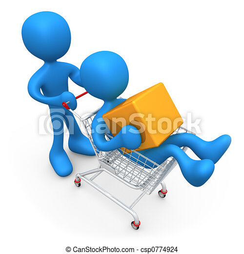 Shopping Together - csp0774924