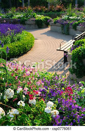 Formal garden - csp0776061