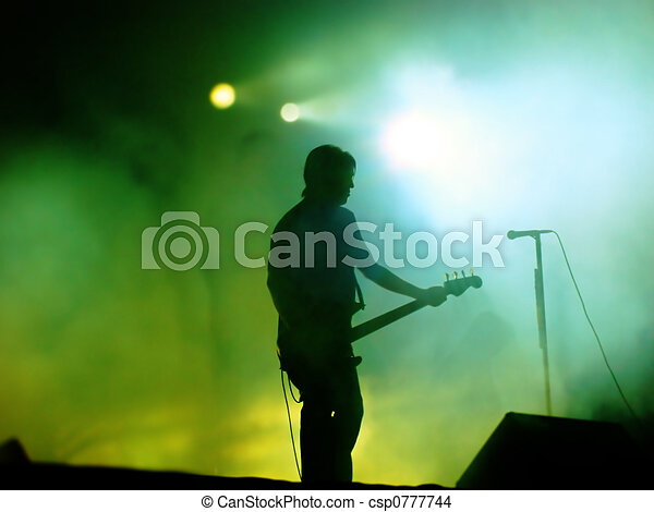 Guitarist On Stage - csp0777744