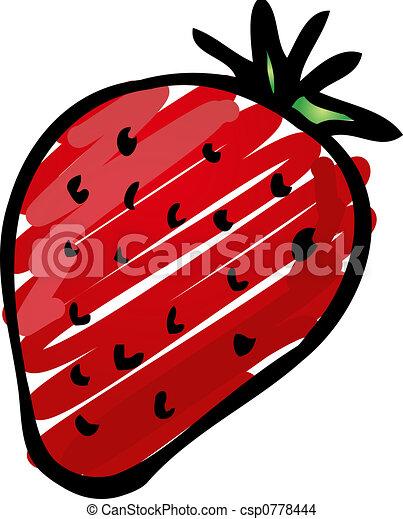 Strawberry illustration - csp0778444