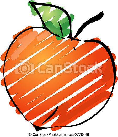 Peach illustration - csp0778446