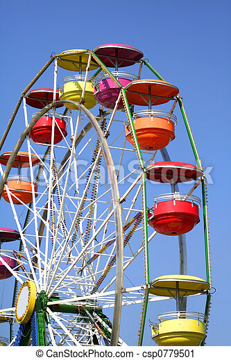 Colorful Ferris Wheel - csp0779501