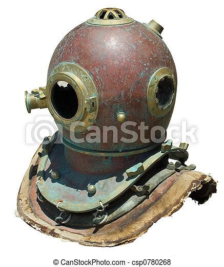 Antique scuba helmet - csp0780268