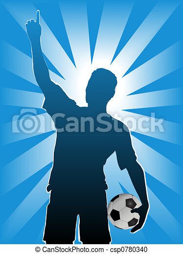 Football Soccer Sports Silhouette - csp0780340