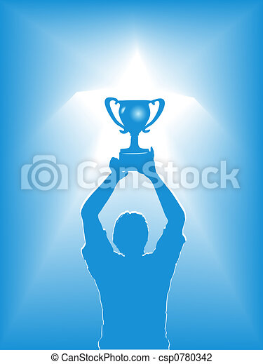 Victory Star Trophy Silhouette - csp0780342