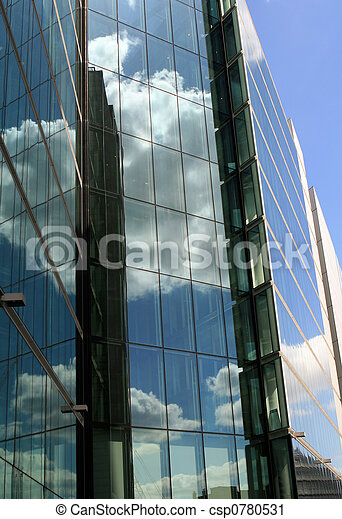 Corporate glass buildings - csp0780531