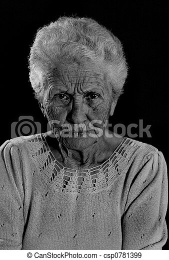 Stern Elderly Woman - csp0781399