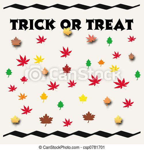 trick or treat sign - csp0781701