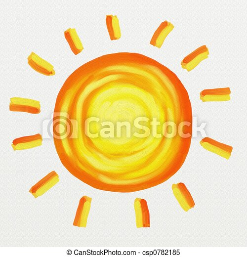 painted sun - csp0782185