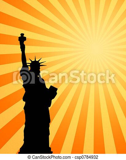 hot sun and liberty - csp0784932