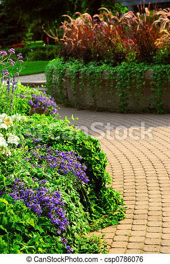 Formal garden - csp0786076