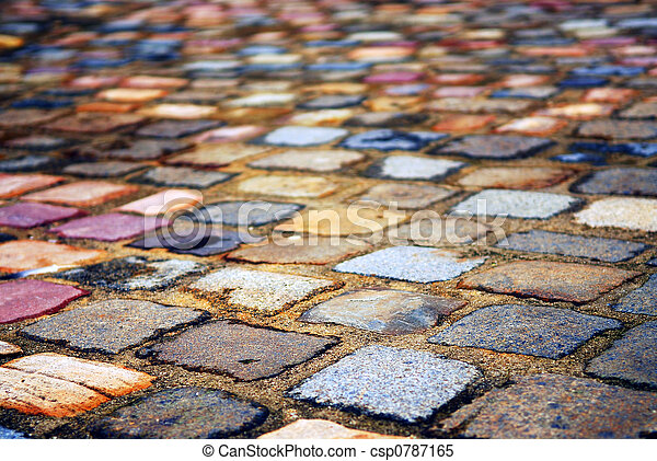 Cobblestone background - csp0787165