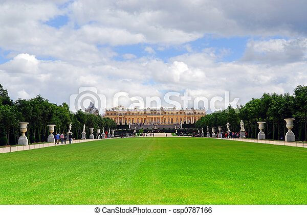 Versailles gardens and palace - csp0787166