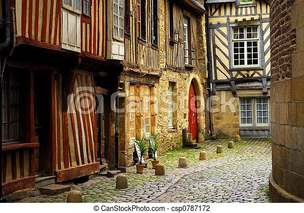 Medieval houses - csp0787172