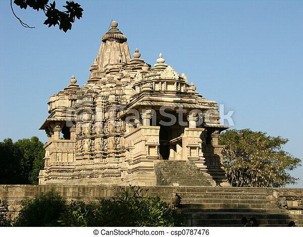 Ancient Hindu Temple at Khajuraho, India - csp0787476