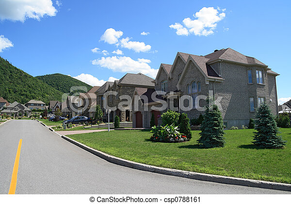 Rich houses in suburbs - csp0788161