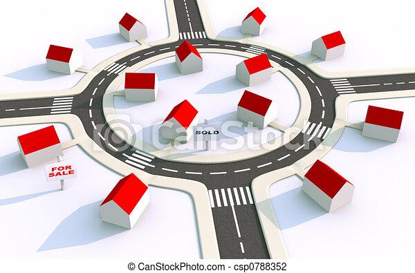 housing estate in the suburbs 2 - csp0788352
