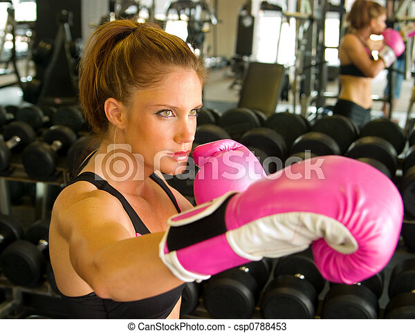 Boxing With Pink Gloves 2 - csp0788453