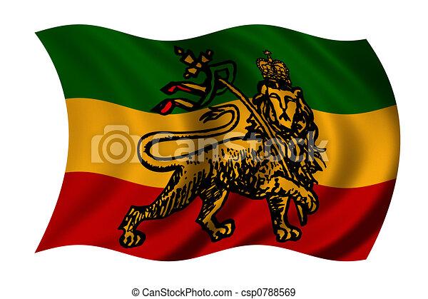 vlag, rastafarian - csp0788569