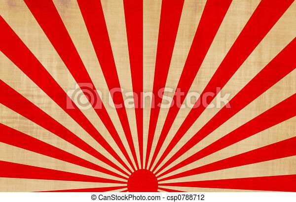 japansese rising sun - csp0788712