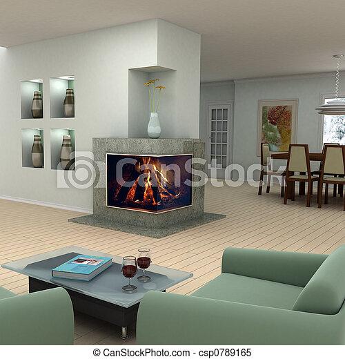 Home interior design - csp0789165