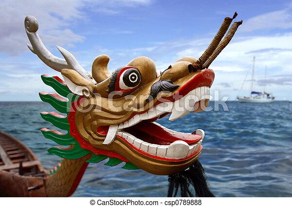 Dragon racing boat - csp0789888