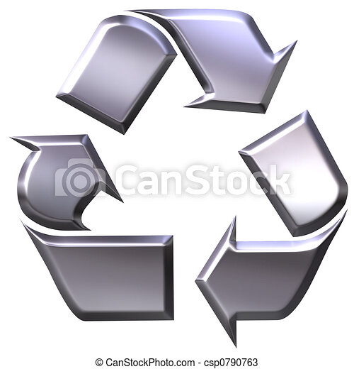 Recycling symbol - csp0790763