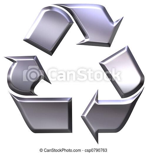 Recycling symbol  - csp0790763