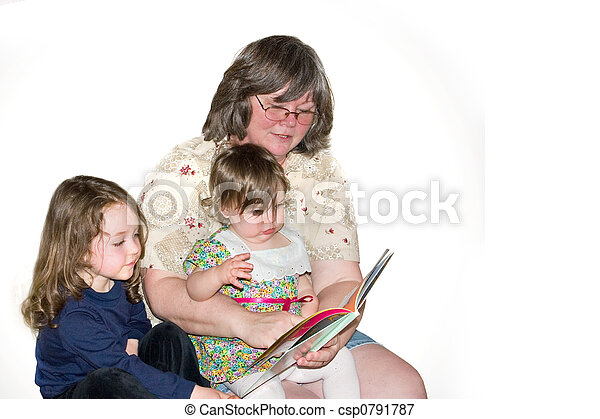 Storytime with Grandma - csp0791787