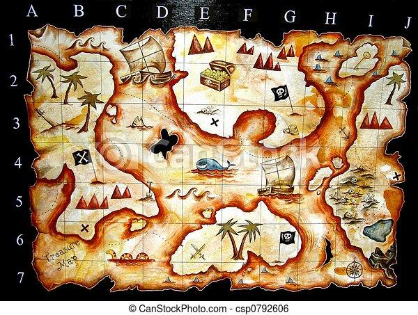 treasure map - csp0792606
