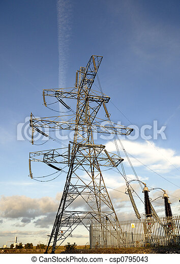 Electricity Supply Pylon - csp0795043