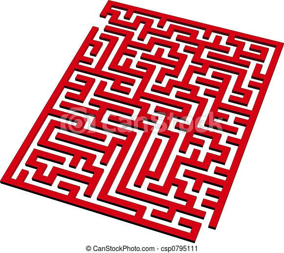 3d Maze Drawing 3d Maze Csp0795111