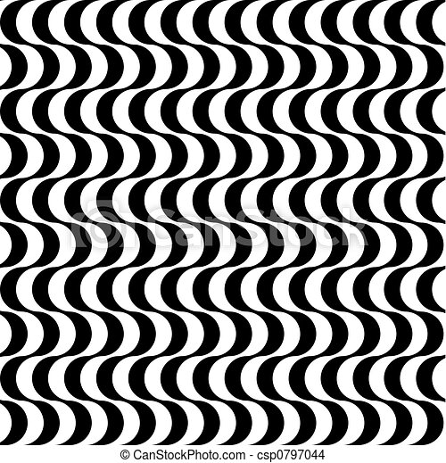 Black and white retro styled waves - csp0797044