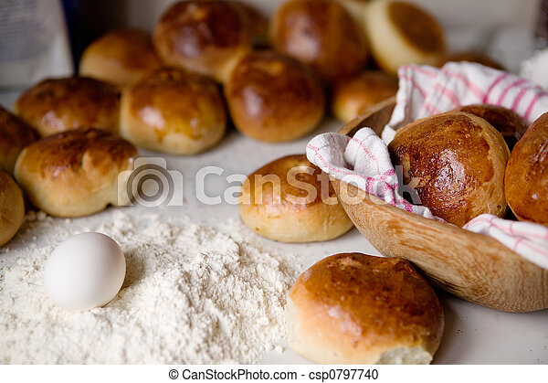 Stock Photography of Hot Cross Buns - Close up detail of freshly ...