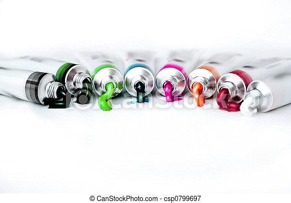 arcobaleno, vernici - csp0799697