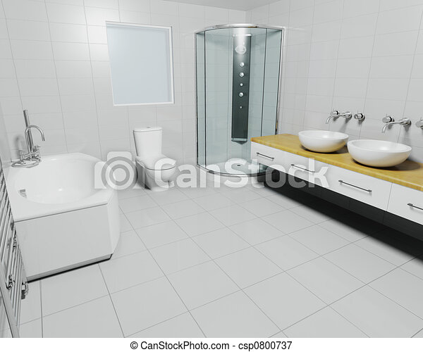 Contemporary bathroom - csp0800737