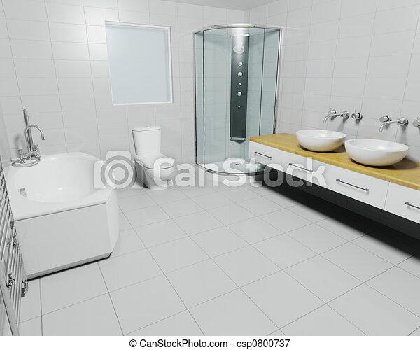 Contemporary bathroom - csp0800737