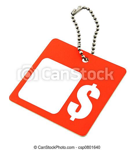 tag with dollar symbol - csp0801640