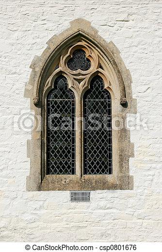 Image de fen tre gothique gothique plomb verre for Fenetre gothique