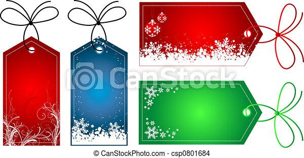 Christmas gift tags - csp0801684