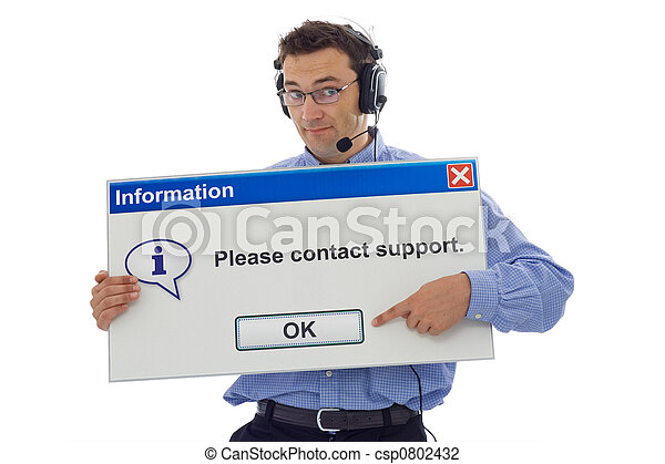 Friendly support personnel - csp0802432