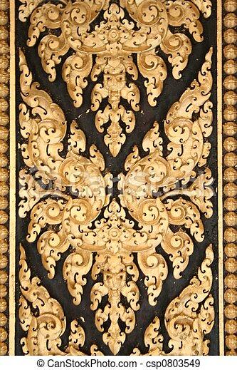 mönster, dörr - csp0803549