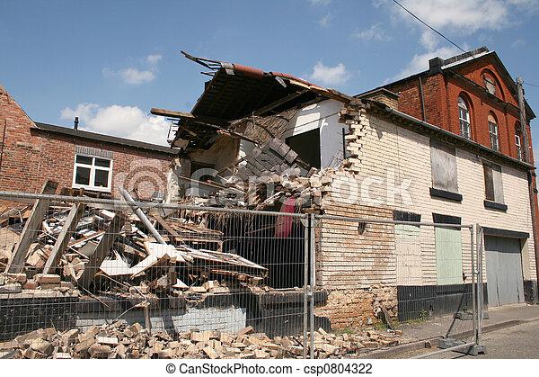 collapsed building - csp0804322