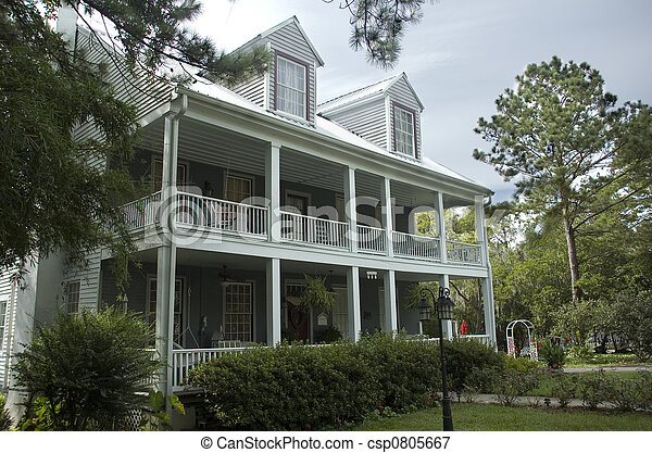 Historic Southern Home - csp0805667
