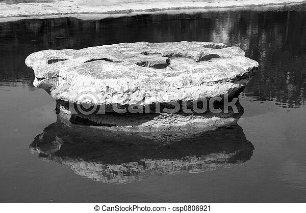 The Historic Round Rock of Round Rock, Texas - csp0806921