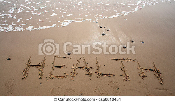 Sand writing - HEALTH - csp0810454