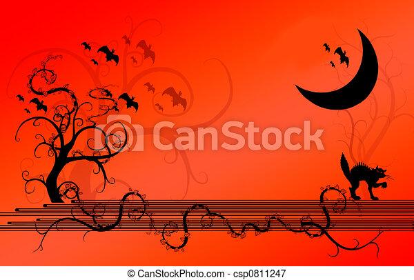 Halloween Background  - csp0811247